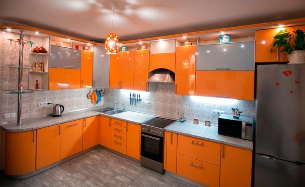 Скидка на Корпусная мебель в цвете на выбор с замером и дизайн-проектом от интернет-магазина «КухниБум»