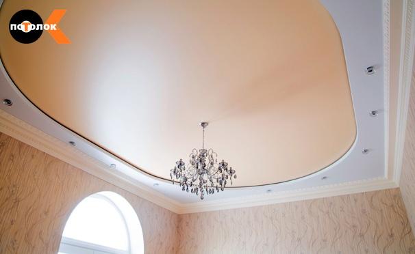 Скидка на Скидка до 65% на виниловые или тканевые натяжные потолки площадью от 10 до 100 кв. м от компании «ПотолокОК»