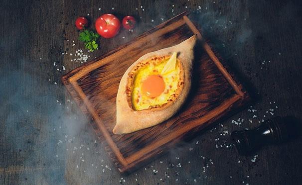 Скидка на Скидка 50% на всё меню кухни и любые напитки в кафе «Хачапури и Хинкали»
