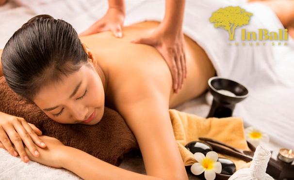Скидка на Тайский или аромамассаж, массаж травяными мешочками, а также расслабляющие spa-программы для одного или двоих в салоне InBali. Скидка до 71%